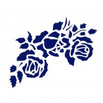 Трафарет с шелковыми вставками арт.IPT-344 Три розы 21х22см