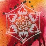 Трафарет-силуэт Marabu арт.28700001 цв.001 листья в рамке 15*15 см