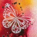 Трафарет-силуэт Marabu арт.28700004 цв.004 бабочка 15*15 см