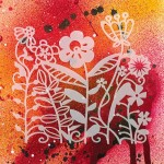 Трафарет-силуэт Marabu арт.28700008 цв.008 цветы 15*15 см