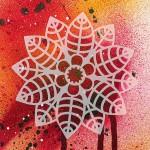Трафарет-силуэт Marabu арт.28700010 цв.010 роза 15*15 см