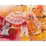 Трафарет-силуэт Marabu арт.28800001 цв.001 индийский слон A4 см