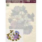 Трансфер универсальный арт.G-164 Цветы вишни и сирени 17х25 см