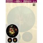 Трансфер универсальный арт.G-35 Жостово: букет на круглом фоне 17х25 см