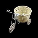 Велосипед арт.КЛ21388 с плетеной корзиной 15*9*10см