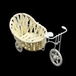 Велосипед арт.КЛ21389 с плетеной коляской овал 18*10*10см