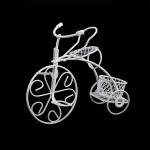 Велосипед арт. SCB27052 трёхколёсный мини металлический 11,5х4х8,5см белый
