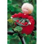 WIT.A11700 Набор для изготовления вальдорфской куклы DE WITTE ENGEL Красная смородина h=10см