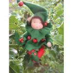 WIT.A40600 Набор для изготовления вальдорфской куклы DE WITTE ENGEL Пуансетия h=12см