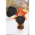 WIT.A41600 Набор для изготовления вальдорфской куклы DE WITTE ENGEL Настурция h=12см