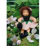 WIT.A43000 Набор для изготовления вальдорфской куклы DE WITTE ENGEL Ежевика h=12см