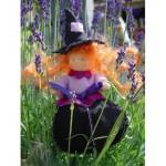 WIT.A45100 Набор для изготовления вальдорфской куклы DE WITTE ENGEL Лавандовая чародейка h=12см