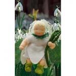 WIT.A45500 Набор для изготовления вальдорфской куклы DE WITTE ENGEL Подснежник h=12см