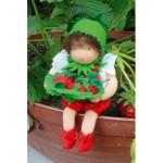 WIT.A46000 Набор для изготовления вальдорфской куклы DE WITTE ENGEL Лесная земляничка h=12см