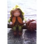 WIT.A49800 Набор для изготовления вальдорфской куклы DE WITTE ENGEL Каштан h=12см