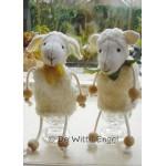 WIT.A51500 Набор для изготовления вальдорфской игрушки DE WITTE ENGEL Две овечки h=16см