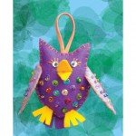 WIT.A56800 Набор для изготовления вальдорфской игрушки DE WITTE ENGEL Птица (подвеска), 9*11см