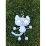 WIT.A59000 Набор для изготовления вальдорфской игрушки DE WITTE ENGEL Котенок (подвеска) h=20см