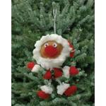 WIT.A59400 Набор для изготовления вальдорфской игрушки DE WITTE ENGEL Санта (подвеска) 10*8см