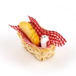 Хлеб и молоко в плетеной корзинке арт.AM0101034