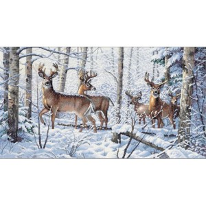 Набор для вышивания DIMENSIONS арт.DMS- 35130 Олени в зимнем лесу