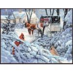Набор для вышивания 'Палитра' арт.07.007 'Краски зимы' 37*27 см