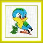 Набор для вышивания мулине 'Паутинка' арт.БК105 Синичка 13х13см