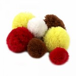Помпоны 100% кашемир арт.СШ микс1 из 5 цветов уп.30шт