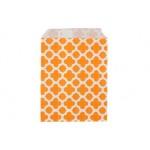 Бумажные пакеты для выпечки Арабески оранжевые, 10 шт