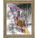 Набор для вышивания бисером 'ВЫШИВАЕМ БИСЕРОМ' арт.В52 Водушная акварель 36х28 см