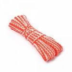 Тесьма плетеная 'вьюнчик' арт.С-3726 (3582) г17 шир.7мм (5мм) рис.9253 цв.005 красный-белый фас.20м