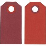 Теги Манила, 6 x 3 см, бордокрасный, 20 шт 234003