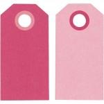 Теги Манила, 6 x 3 см, розовыйцвет розы, 20 шт 234009