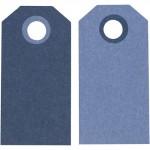 Теги Манила, 6 x 3 см, темно-синийсветло-голубой, 20 шт 234004