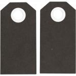 Теги Манила, 6 x 3 см, черный, 20 шт 234002
