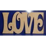 Деревянная заготовка LOVE №3 48х25 см 6 мм