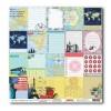Бумага для скрапбукинга 30,5х30,5 см 180 грм Вокруг Света Яркие впечатления 10шт x уп