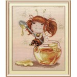 Наборы для вышивания с рисунком на канве 'МП Студия' арт РК-480 'Медовая феечка' 32х27 см