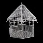 Беседка с треугольной крышей арт. SCB27039 металл 9х9х14см белая мини