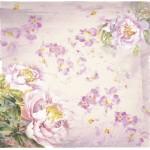 Бумага для скрапбукинга акварельные цветы арт.CP01272 розовые пионы 30х28,5см 160грм одностор