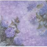 Бумага для скрапбукинга акварельные цветы арт.CP01296 гортензии 30х28,5см 160грм одностор