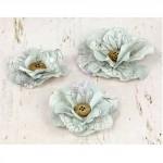 Бумажные цветы Prima арт.571047 Perdu Нежно-голубые 3 шт 2,5-7см