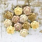 Бумажные цветочки Prima арт.566630 Avante Соломенные 12 шт*2,5см
