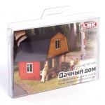 Сборная модель из МДФ Дачный домик (кирпичный) арт.0187012 недекорированный M1:87