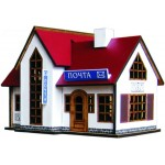 Сборная модель из МДФ Коттедж № 09 (отель) арт.09110309 157х115х110мм недекорированный