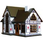 Сборная модель из МДФ Коттедж № 10 (отель) арт.09110310 157х115х110мм недекорированный