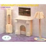 Сборная модель P009-2 арт.КЛ21427 дерево набор мебели