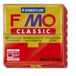 FIMO Classic Red полимерная глина, запекаемая в печке, уп. 56 гр. цвет: красный 8000-2