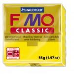 FIMO Classic Yellow полимерная глина, запекаемая в печке, уп. 56 гр. цвет: жёлтый 8000-1