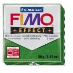 FIMO Effect Glitter Green полимерная глина, запекаемая в печке, уп. 56 гр. цвет: зелёный с блестками 8020-502